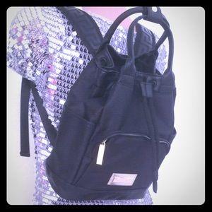 🔥 Versace Parfume backpack black/gold handles bag